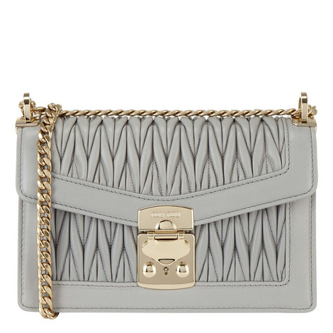 Confidential Small Leather Shoulder Bag, ${color}