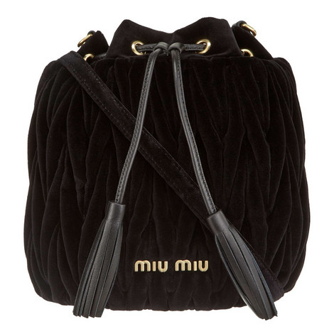 Matalessé Velvet Bucket Bag, ${color}
