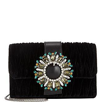 Matte Velvet Crystal Bag