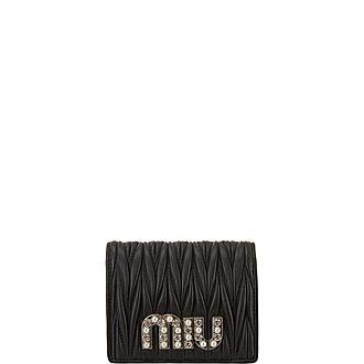 Matelassé Crystal Leather Wallet