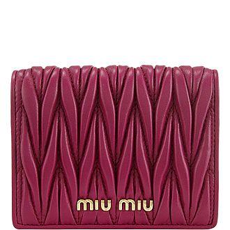 Matelasse Small Flap Wallet