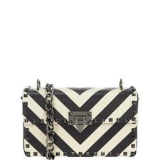 Stripe Rockstud Handbag