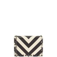 Stripe Chain Bag