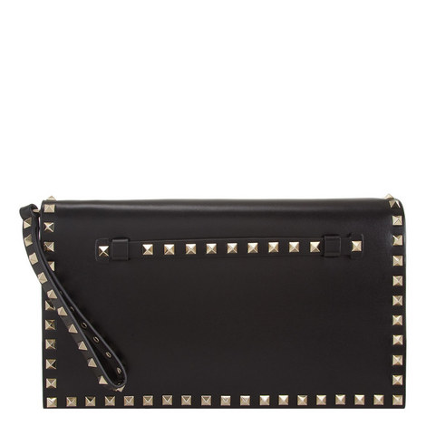 Rockstud Flap Clutch, ${color}