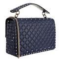 Rockstud Large Spiked Shoulder Bag, ${color}
