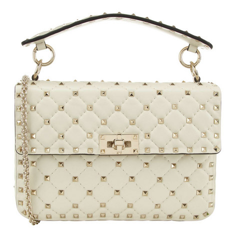 Rockstud Spike Small Shoulder Bag, ${color}