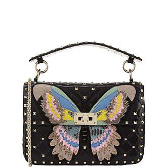 Rockstud Spike Butterfly Shoulder Bag
