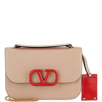 V-Lock Chain Shopper Shoulder Bag