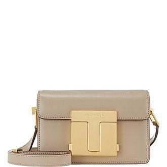 T Clasp Small Shoulder Bag