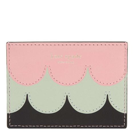 Intarsia Scallop Cardholder, ${color}
