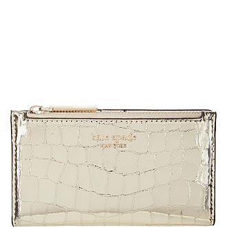 Sylvia Croc Embossed Wallet