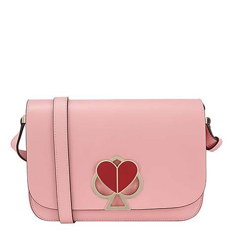 Nicola Twistlock Medium Shoulder Bag, ${color}