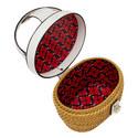 Rose Medium Basket Bag, ${color}