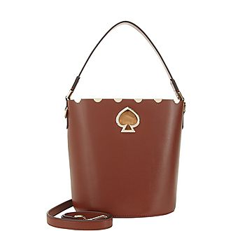 Suzie Scalloped Small Bucket Bag