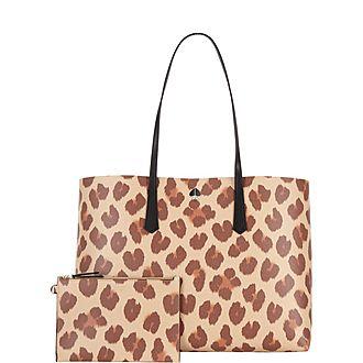 Molly Leopard Tote