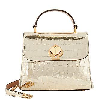 Romy Metallic Croc Bag