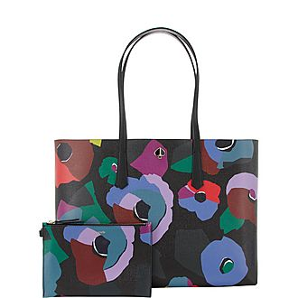 Molly Floral Collage Tote
