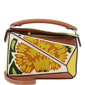 Mini Puzzle Floral Crossbody Bag