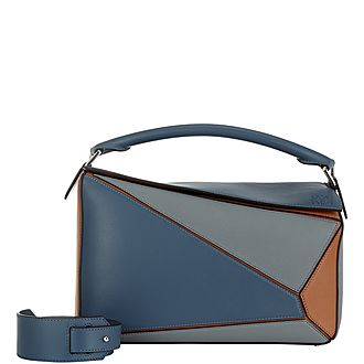Puzzle Medium Colour Block Shoulder Bag