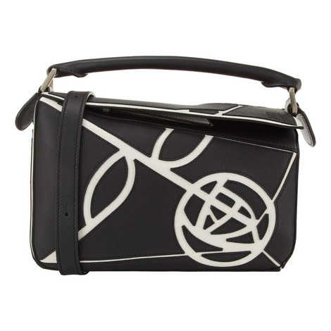 Rose Puzzle Handbag, ${color}