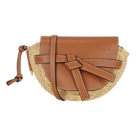 Raffia Gate Mini Handbag, ${color}