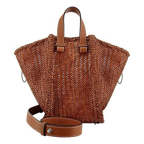 Hammock Woven Medium Handbag, ${color}