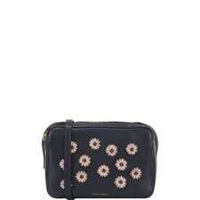 Floral Double Zip Crossbody Bag