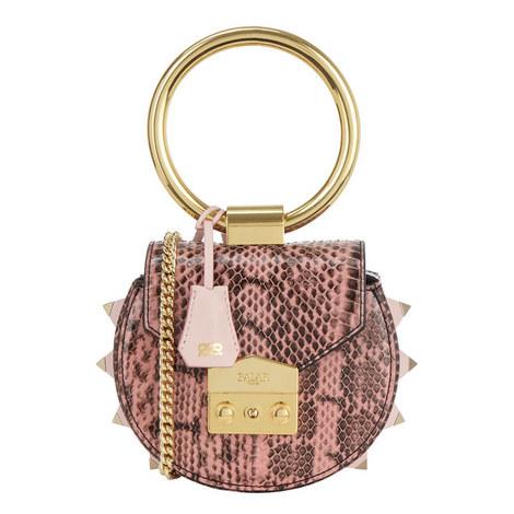 Jie Handle Snakeskin Shoulder Bag, ${color}