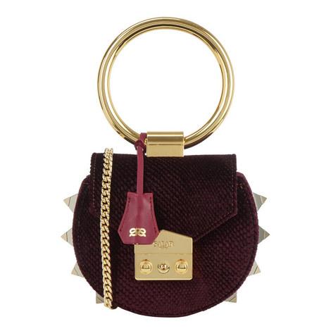 Jie Handle Velvet Shoulder Bag, ${color}
