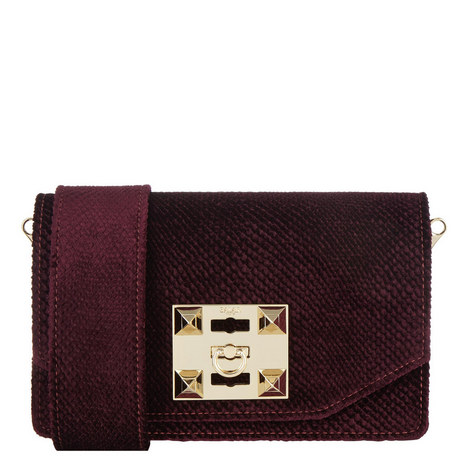 Kio Velvet Crossbody Bag, ${color}