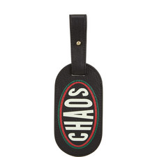 Graphic Leather Luggage Tag