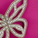 Flossy Butterfly Pearl Clutch, ${color}