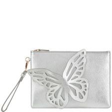 Flossy Butterfly Pearl Clutch