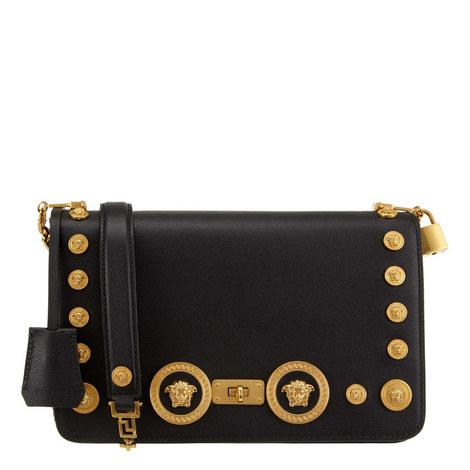 Stud Icon Medium Shoulder Bag, ${color}