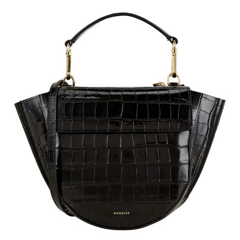 Hortensia Crocodile Shoulder Bag, ${color}