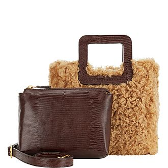 Mini Shirley Shearling Shoulder Bag