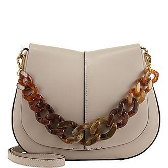 Helena Resin Medium Shoulder Bag
