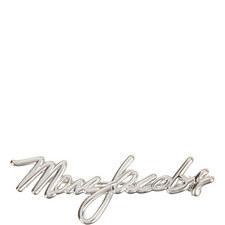 Signature Logo Brooch