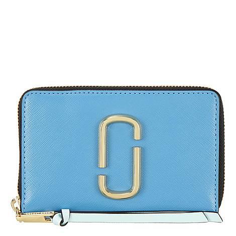 Snapshot Continental Small Zip-Around Wallet, ${color}