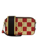 Snapshot Sequin Checkered Crossbody Bag, ${color}