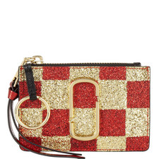 Snapshot Checkered Top Zip Wallet