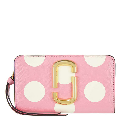 Polka Dot Snapshot Compact Wallet, ${color}