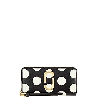 Polka Dot Snapshot Continental Zip Around