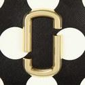 Polka Dot Snapshot Top Zip Wallet, ${color}