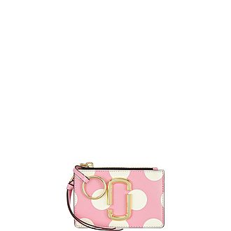 Polka Dot Snapshot Top Zip Wallet