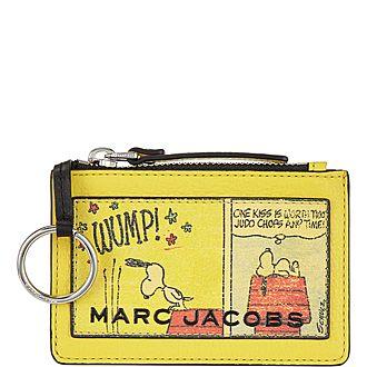 Snoopy Top Zip Wallet