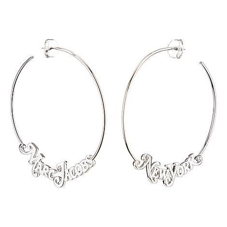 The Logo Hoop Earrings, ${color}