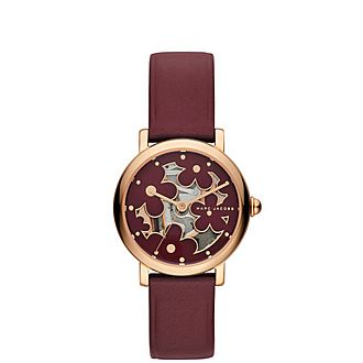 Three Hand Flower Watch