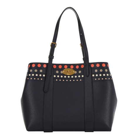 Bayswater Perforated Leather Tote Bag, ${color}