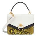 Harlow Python Shoulder Bag, ${color}